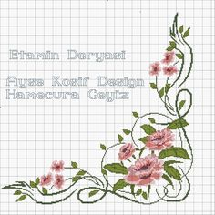 Bargello, Cross Stitch Embroidery, Needlework, Diy And Crafts, Floral, Flowers, Pattern, Cross Stitch Borders, Cross Stitch Flowers