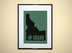 Hashtag State of Idaho Instagram Style Art by EverythingHashtag, $8.99