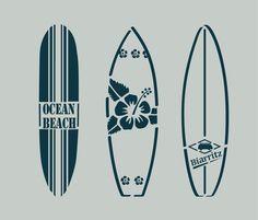 Pochoir en vinyle adhésif. Planches de surf. Bord de mer (ref 85) : Décoration d'intérieur par larabesque