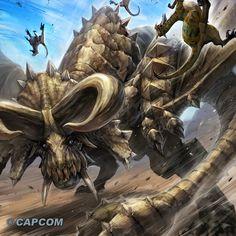 """[Creature] """"Monster of the desert"""" Fantasy Creatures, Mythical Creatures, Monster Hunter World Wallpaper, Monster Hunter Memes, Aliens, Cool Monsters, Demon King, Fantasy Monster, Monster Hunter"""