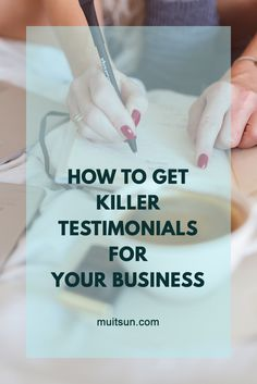 Get killer client testimonials for your business using this easy-to-follow system. Download free checklist and email templates. Find out more...