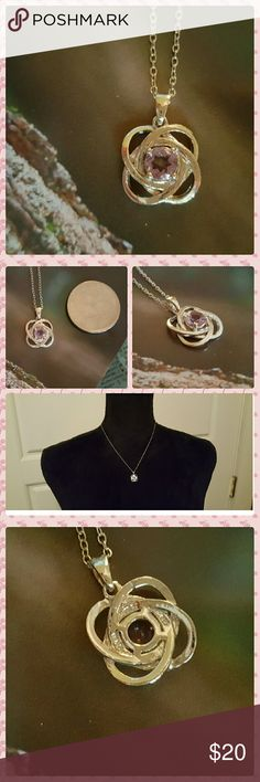 JUST IN: 925 Amethyst Love Knot Necklace NWOT Simple but classy Amethyst love knot nevklace. 925 sterling silver. 0.4 tcw Amethyst. Chain is 18 inches in length. Jade New York Jewelry Necklaces