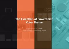 The Essentials of #PowerPoint Color Theme - #smbiztips #colortheory #slideshare http://www.slideshare.net/24Slides/the-essentials-of-powerpoint-color-theme-40626900?sf5411754=1 If you're trying to build a specific look or theme for your presentation, you should keep in mind that colors do matter and have a major, powerful impact. In t…
