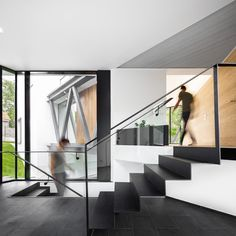 Image 26 of 29 from gallery of Doja 36 House / TECON Architects. Photograph by Vlad Patru Cultural Architecture, Education Architecture, Residential Architecture, Contemporary Architecture, Amazing Architecture, Architecture Design, Architects London, Zaha Hadid Architects, Future House