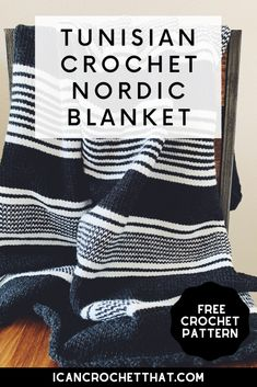 Crochet Home, Crochet Crafts, Crochet Projects, Free Crochet, Knit Crochet, Crochet Ideas, Tunisian Crochet Blanket, Tunisian Crochet Patterns, Knitting Patterns