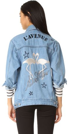 Fun. Flamingo. Fashion. Etre Cecile L'Avenue Des Stars Flamingo Oversized Jacket