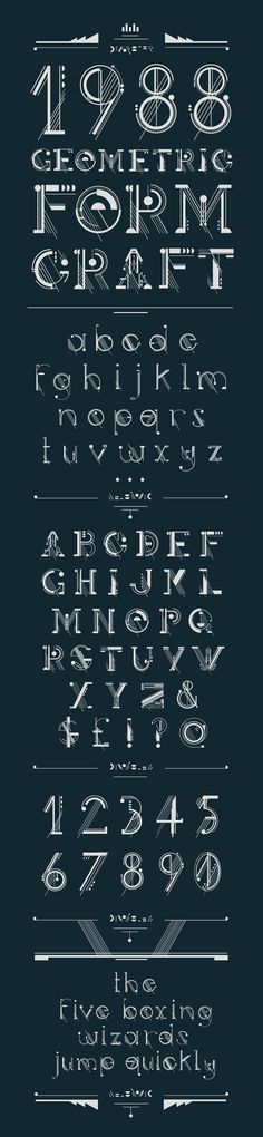 number font for APK tattoo - Geometric typeface loosely based on melodic aesthetics