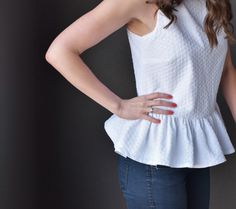 How to add darts to a shirt, full DIY sewing tutorial
