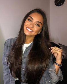 🍯 new video link in bio! fall try on haul Hair Lights, Light Hair, Dark Hair, Hair Color For Tan Skin, Hair Color Streaks, Brown Hair Colors, Brown Hair Green Eyes, Brown Hair Shades, Green Hair