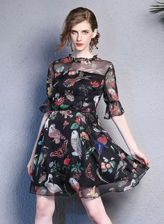 Floral Casual Dress Summer Dress S-XL by Enice from Enice Fashion by DaWanda.com