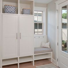 Love this little seat and cupboard combo if we have the space