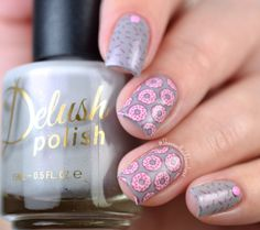 Nail Art Stamping - Rainbow color sprinkle nails! Using High & Mightea stamping plate over Mama Said There'd Be Glaze Like This nail polish.