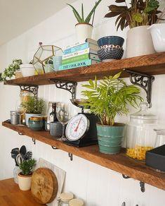 New Ideas Laundry Room Organization Diy Shelves Doors Diy Kitchen Storage, Diy Kitchen Cabinets, Kitchen Shelves, Kitchen Reno, Kitchen Furniture, Kitchen Ideas, Dining Room Shelves, Scaffold Boards, Diy Regal