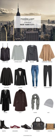 livelovesara - My life in a blog by Sara Watson. Packing List: 4 days in New York City in December. 2016