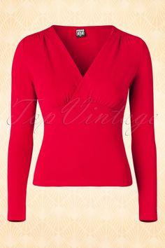 Mademoiselle Yeye Romy Top in Red 113 40 15619 20150820 003W http://www.yeyeye.de/shop/AW15/Romy-Top-red::391.html
