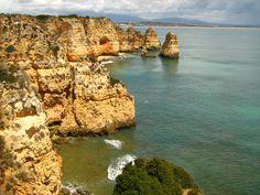 As falésias de Portimão. Portugal
