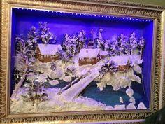 3d Kar Manzarası Işıklı Tablo