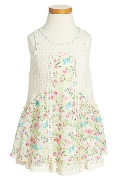 Sara Sara Chiffon & Lace Sleeveless Dress (Toddler Girls) available at #Nordstrom