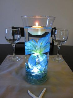 Waterproof LED under rocks, floating candle