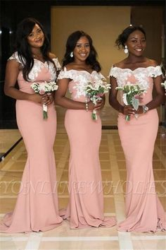 Wanna Bridesmaid Dresses in , Mermaid style, and delicate Lace work? Babyonlinewholesale has all covered on this elegant Two-toned Off The Shoulder Mermaid Pink Bridesmaid Dresses Lace Bridesmaid Dresses, Wedding Bridesmaid Dresses, Best Wedding Dresses, Prom Dresses, Trendy Wedding, Maid Of Honour Dresses, Maid Of Honor, Lace Mermaid Wedding Dress, Cheap Dresses
