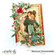 A Christmas Carol card by Mariusz! #graphic45