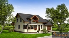 O casa de vis cu 4 dormitoare mansarda si garaj - proiect detaliat cu fotografii Design Case, Home Fashion, House Design, Cabin, House Styles, Houses, Home Decor, Homes, Decoration Home