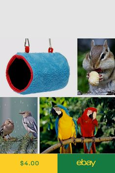 Bird Supplies Bird Cages & Nests Parrot Hammock Pet Birds Bed House Hanging Fuzzy Plush Winter Warm Soft Nest Toy To Prevent And Cure Diseases