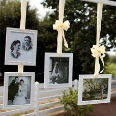 Украшение рамками для фотографий комнаты невесты
