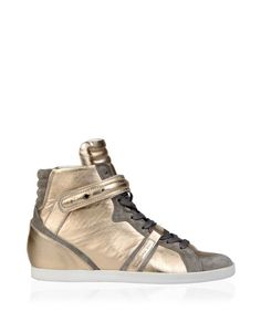 Barbara Bui new Pre-fall 2014 iconic sneakers in gold leather