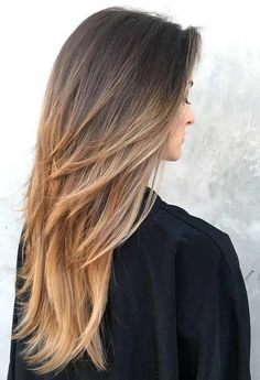 Shoulder-Length Layers for Long Hair