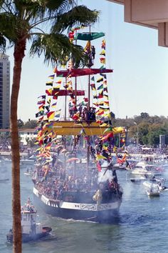 Gasparilla Pirate Festival, Tampa...went to this when I was a kid...slj
