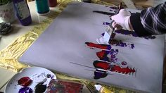 Acrylmalerei abstract acrylic painting Demo Abstraktes Bild malen /spach...