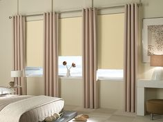 Blackout roman shades are ideal for blocking light out and keeping privacy in your home.