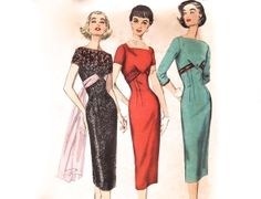 Vintage 1950s Sewing Pattern  Sexy Wiggle Dress by FriskyScissors, $65.00