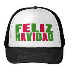 Feliz Navidad! :) http://www.zazzle.com/feliz_navidad_trucker_hat-148599050677411288?rf=238020180027550641