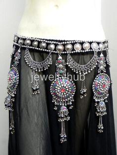 Image detail for -Kuchi Belt Belly Dance Hip Skirt Tribal Boho ATS Gypsy   eBay