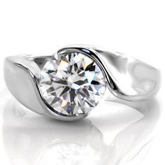 Yin-Yang - Knox Jewelers - Minneapolis Minnesota - Solitaire Engagement Rings - Motion, Half Bezel