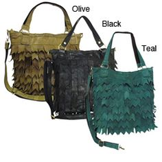 @Overstock - This leafy-style handbag is made from recycled lambskin leather for a luxuriously eco-friendly design. This refashioned tote offers a spacious design ideal for all of your essentials.http://www.overstock.com/Clothing-Shoes/Amerileather-Eco-Recycled-Leather-Tote/4796987/product.html?CID=214117 $51.29