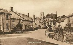 Vintage Old Photos | Devon, East Budleigh in the 1940's - with an old vintage car
