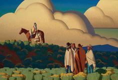 Logan Maxwell Hagege, It's a New Life, oil, 34 x 50.