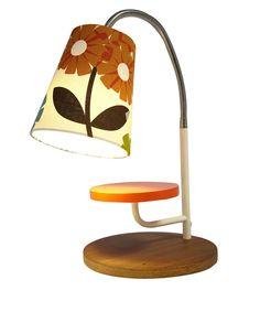 Orla Kiely Brown Rhododendron Print Mini Task Table Lamp | Lighting by Orla Kiely | Liberty.co.uk