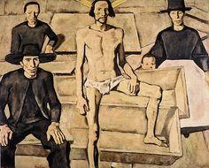 Resurrection of Christ- Albin Egger-Lienz Oil Canvas, Symbolic Art, Dance Of Death, Jesus Christus, Henri Matisse, Christen, Watercolor Landscape, Artist Art, Figurative Art