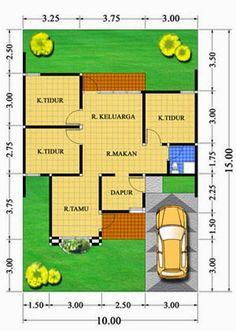 7 Ide Denah Rumah Type 70 Denah Rumah Rumah Denah Lantai Rumah