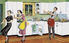 :: Retro Decor & Furniture :: Model kitchen, Youngstown Steel Kitchens by Mullins, 1949 1940s Home Decor, 1950s Decor, Vintage Advertisements, Vintage Ads, Vintage Decor, Retro Ads, Vintage Vibes, Vintage Images, Mid Century Modern Decor