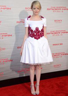 emma stone chanel resort 2013 dress #emma #stone #red #carpet