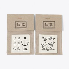 Temporary Tattoos, Be Free & Ahoi (Set of 2) (£9) ❤ liked on Polyvore featuring accessories, body art and temporary tattoos