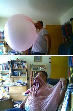 GINORMOUS BUBBLE- HOPE HE WAS CHEWING HUBBA BUBBA BUBBLE GUM!