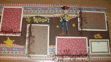 DISNEY WOODY TOY STORY Premade Layout Scrapbook Pages