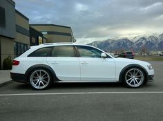 White Audi Allroad with Rotiforms