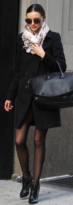 All-black with great accessories. (miranda kerr)